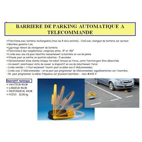 barriere de parking barriere de parking automatique a telecommande 40x46x44 cm 2 telecommandes led batterie kxproshop