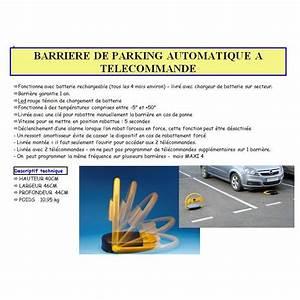 Barrière De Parking Rabattable : barriere de parking automatique a telecommande 40x46x44 cm ~ Dailycaller-alerts.com Idées de Décoration