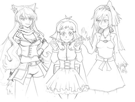 rwby coloring pages max and ruby coloring pages o letoanco