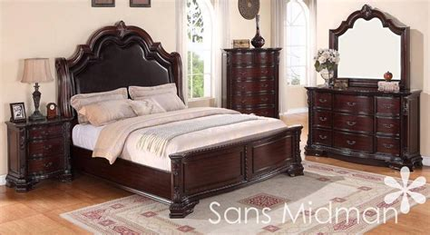 cherry bedroom sets new 5 pc sheridan queen bedroom collection traditional 11072 | s l1000