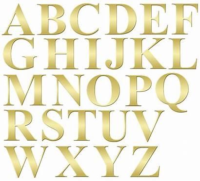 Alphabet Letters Clip Gold Alphabetical Odd Order