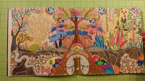 enchanted forest  johanna basford adult coloring