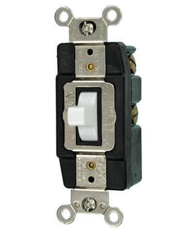 amp  volt single pole toggle ac quiet switch  leviton