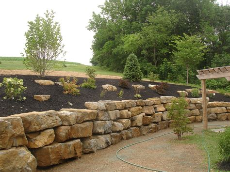 boulder wall landscaping design services hardscaping lehigh valley pa area