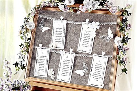 thrifty ideas     vintage wedding seating chart