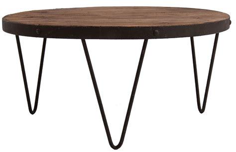 table basse industrielle ronde table basse ronde industrielle pin massif fonc 233 et pieds