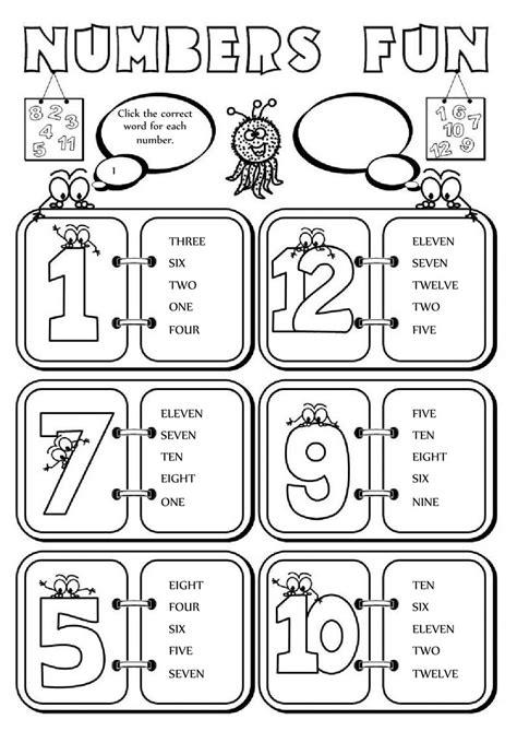 numbers fun 1 12 interactive worksheet