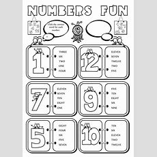 Numbers Fun (112)  Interactive Worksheet