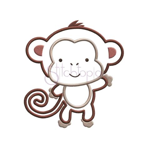 monkey applique baby animals monkey applique design stitchtopia