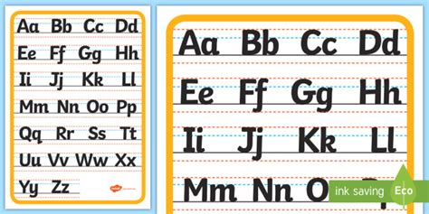upper   case handwriting letter formation display