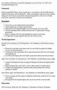 #1 Hotel Reservations Agent Resume Templates: Try Them Now ...