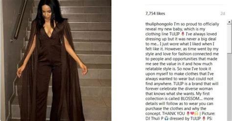 thuli phongolo ventures into fashion the edge search