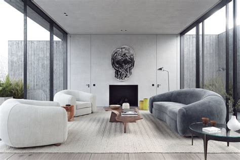 3 Home Interiors With Modern Elegance by Fresh And Minimal Living Room Ideas