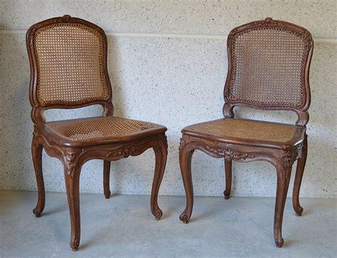 chaises louis xv cannées louis cresson paire de chaises cannées estil