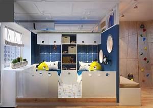 chambre pour enfant sur le theme de l39espace With chambre pour 2 garcons