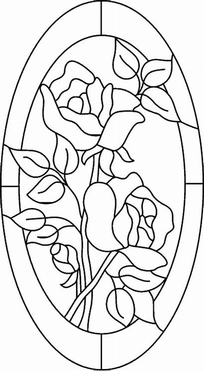 Painting Glass Coloring Paint Rose Window Windows