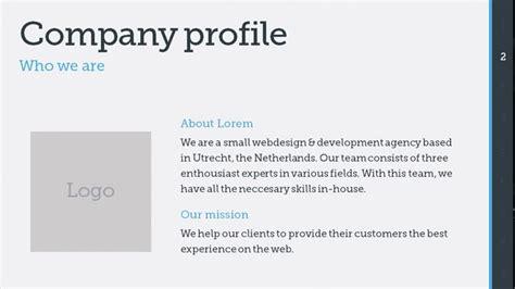 company profile presentation template pdf the best free powerpoint premium templates multipurpose