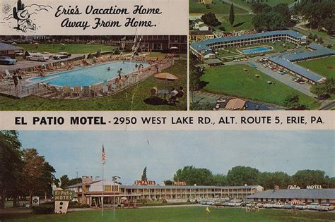 el patio motel erie pa three miles west of erie on