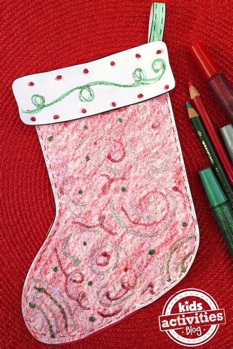 decorate  stocking  kids printable craft