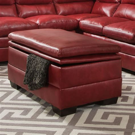 Simmons Ottoman by Simmons Upholstery 9515 Casual Storage Ottoman Dunk