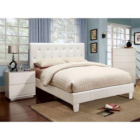 furniture  america mircella  piece white leatherette