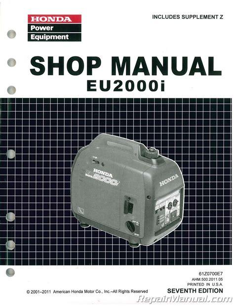 honda eui generator shop manual