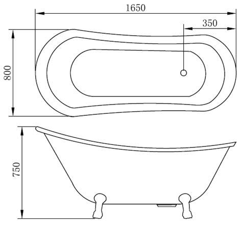 lunghezza vasca da bagno vasca da bagno quasar 165x80