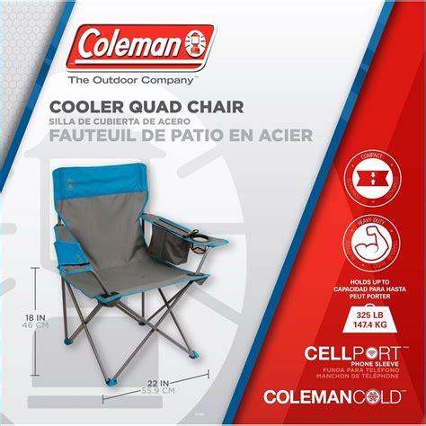 coleman cing oversized chair with cooler coleman cooler chair coleman more shop the exchange