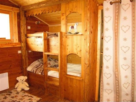 lits superposes 4 couchages location chalet de luxe quot le tres estelles quot font romeu