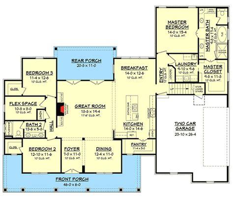 country house plan flex space bonus room hz architectural designs house plans