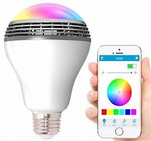 Lampe Mit Lautsprecher : geeek led lampe mit bluetooth lautsprecher rgbw playbulb ~ Eleganceandgraceweddings.com Haus und Dekorationen