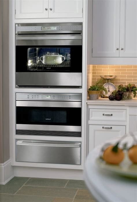 wolf double wall ovens outdoor kitchen appliances wall oven microwave drawer