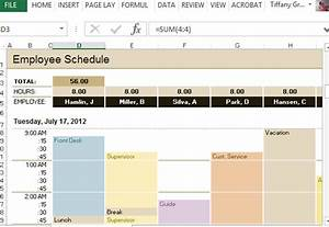 Productivity Tracker Excel Template Employee Schedule Hourly Increment Template For Excel