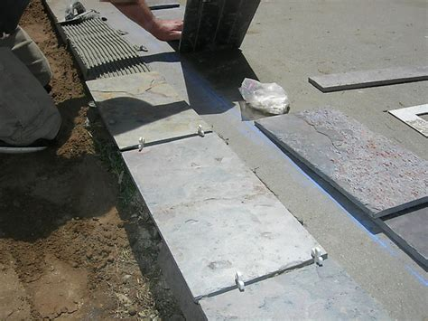 laying slate slabs how to build a slate patio how tos diy