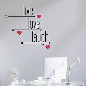 live love laugh arrows and hearts wall decal With live laugh love wall decal