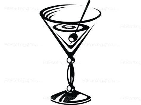 vintage cocktail party clipart glasses cartoon free download best