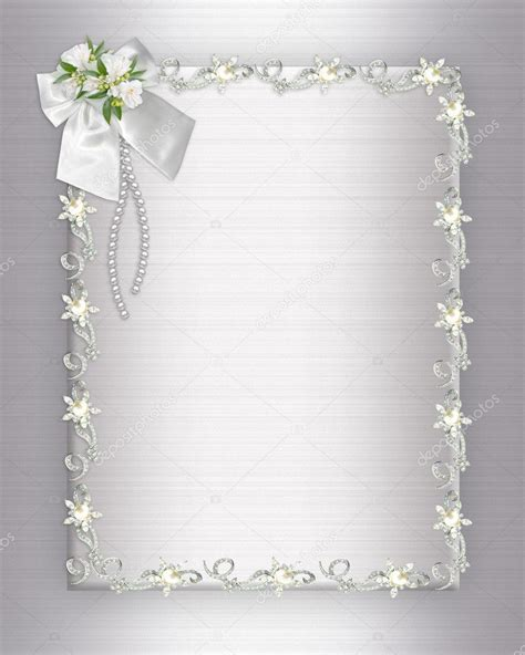 wedding invitation elegant border stock photo