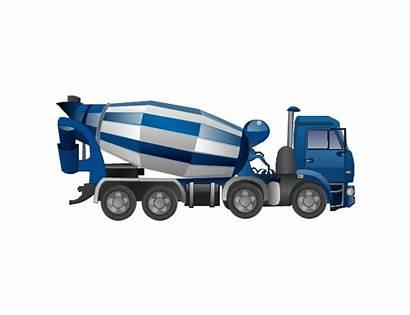 Concrete Mixer Clipart Truck Vector Industrial Transport