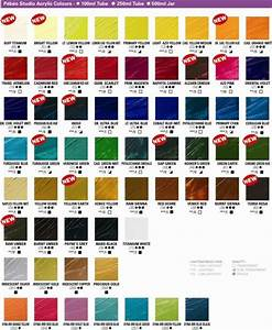 Colour Mixing Chart For Artists Studio Acrylics Color Chart Acrylic Colors Color Chart