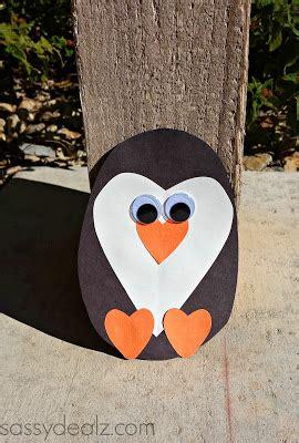 paper heart penguin craft  kids crafty morning