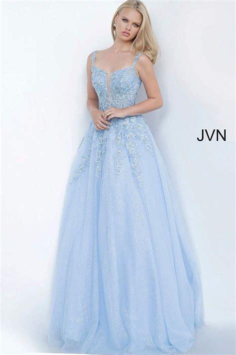 Sky blue A-line prom ballgown #JVN #bluedress #prom   Ball ...