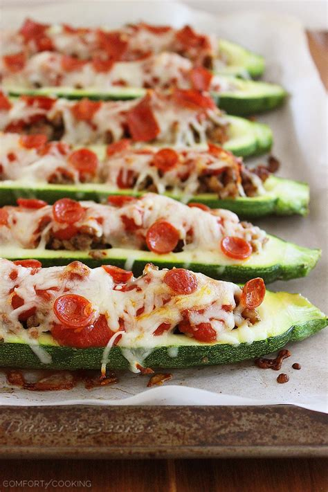 Zucchini Boats Pizza by The Comfort Of Cooking 187 Pizza Zucchini Boats