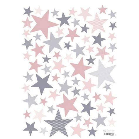 theme etoile chambre bebe stickers etoile et gris de lilipinso