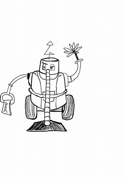 Robot Cleaning Drawing Clean Ocd Physics Cleaner