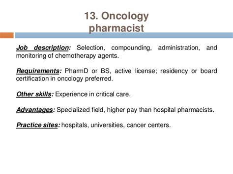 Pharmacist Description by Pharmacy Careers Pharmacist Practice Settings