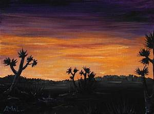Desert Night Painting by Anastasiya Malakhova