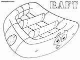 Raft Coloring sketch template