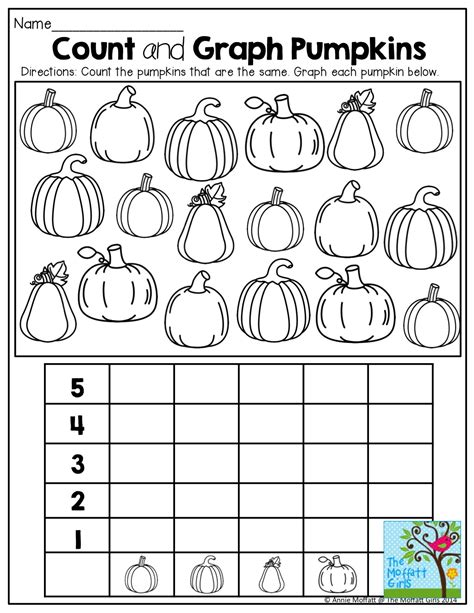 Graphing Pumpkins And Tons Of Other Fun Printables!  October  Pinterest  Math, Count And