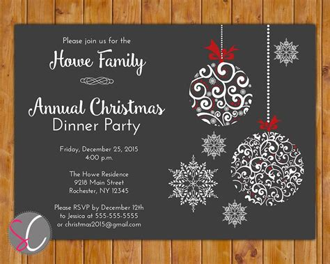 free christmas dinner invitations holiday party invites party invitations templates