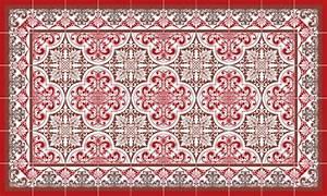 Carreaux De Ciment Rouge : tapis vinyle carreau de ciment ~ Melissatoandfro.com Idées de Décoration